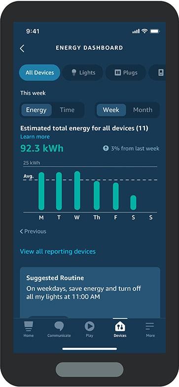 Alexa App Energy Dashboard