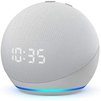 Amazon Echo Dot con Orologio (4a-generazione)