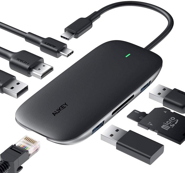 AUKEY Hub USB C 8 in 1