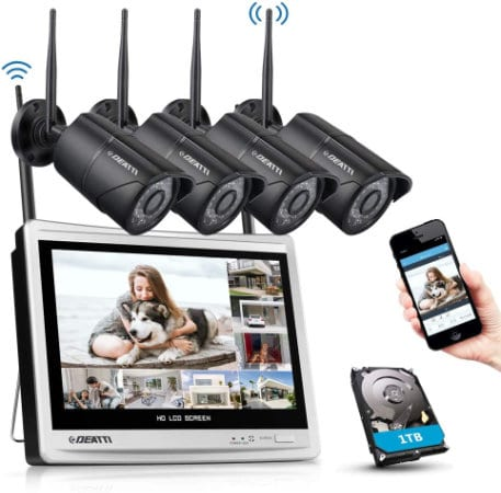 Deatti 1080p Wireless Security Camera System