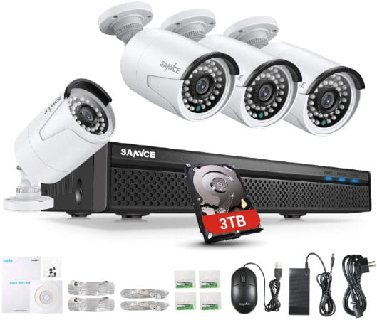 Sannce 8 Channel 4 Camera 5MP PoE